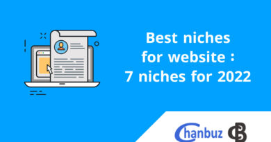 Best niches for website : 7 niches for 2022